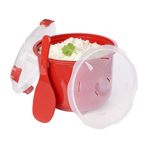 Sistema Microwave rijstkoker - 2,6 l - rood