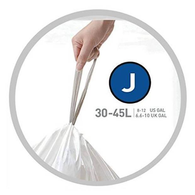 Afvalzakken code j, 30 - 45 liter - simplehuman