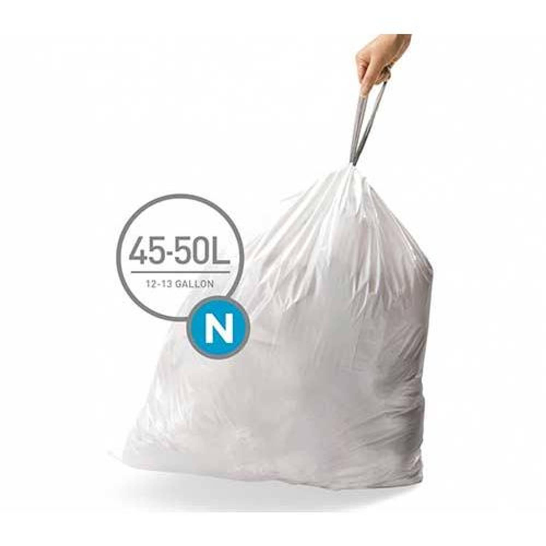 Simplehuman afvalzakken Code N voor 45-50 liter - 20 stuks