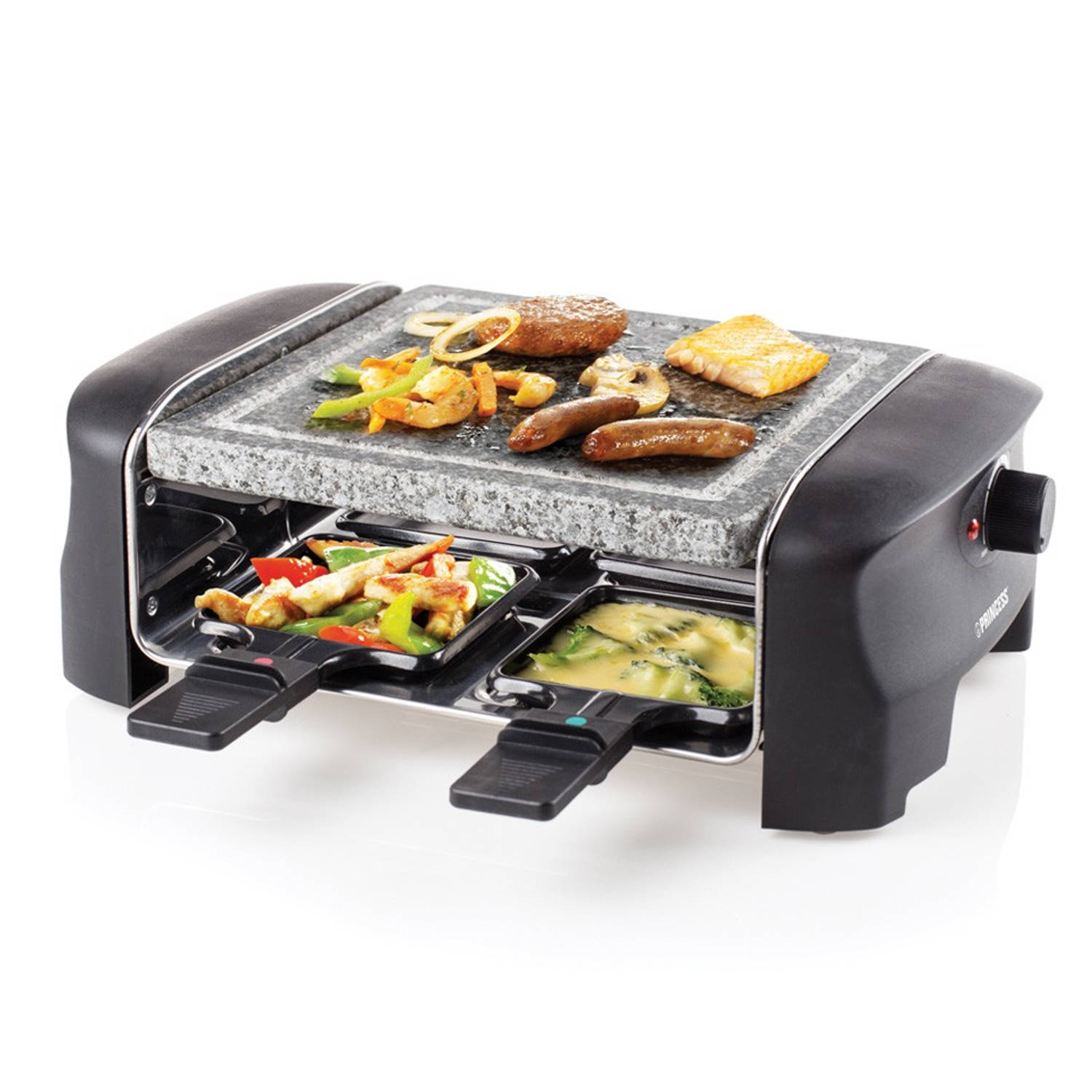 Princess Raclette 4 Stone Grill Party steengrill 162810