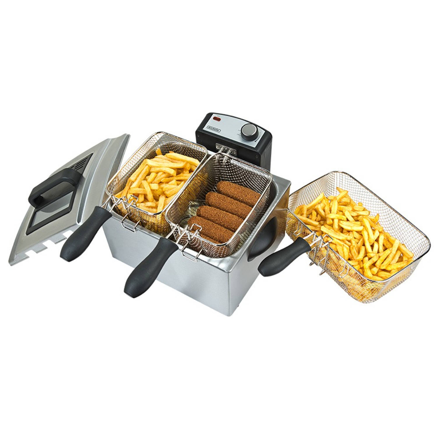 Korting Bourgini Classic Triple Deep Fryer friteuse 5.0L 18.2050