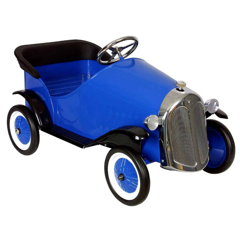 Trapauto Metal Sedan Blauw