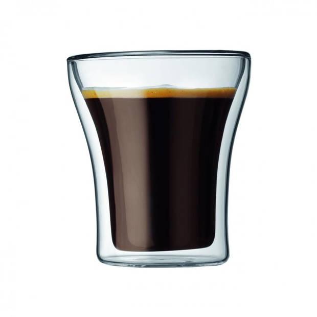 Bodum Assam glazenset - 2-delig - dubbelwandig - klein - 0,2L