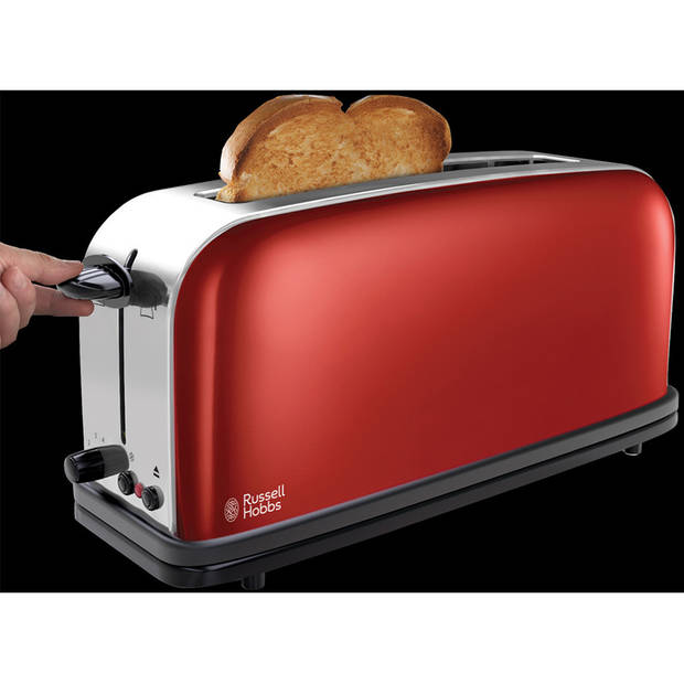 Russell Hobbs Flame Red broodrooster - long slot
