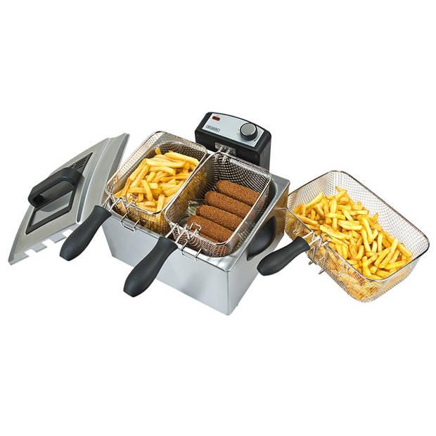 Bourgini Classic Triple Deep Fryer friteuse 5.0L 18.2050