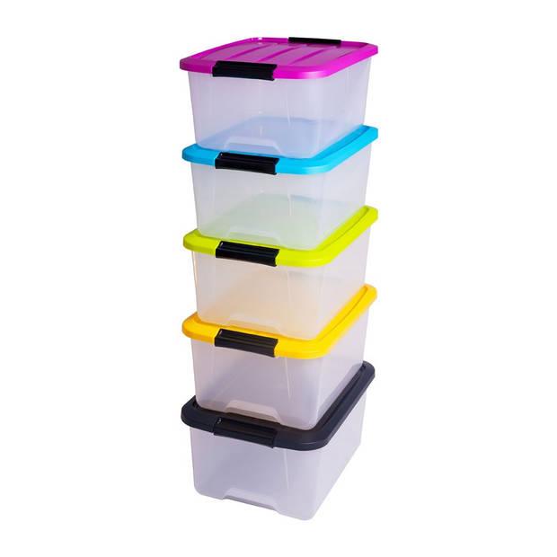 Iris opbergboxen met verschillende kleuren - 5 stuks