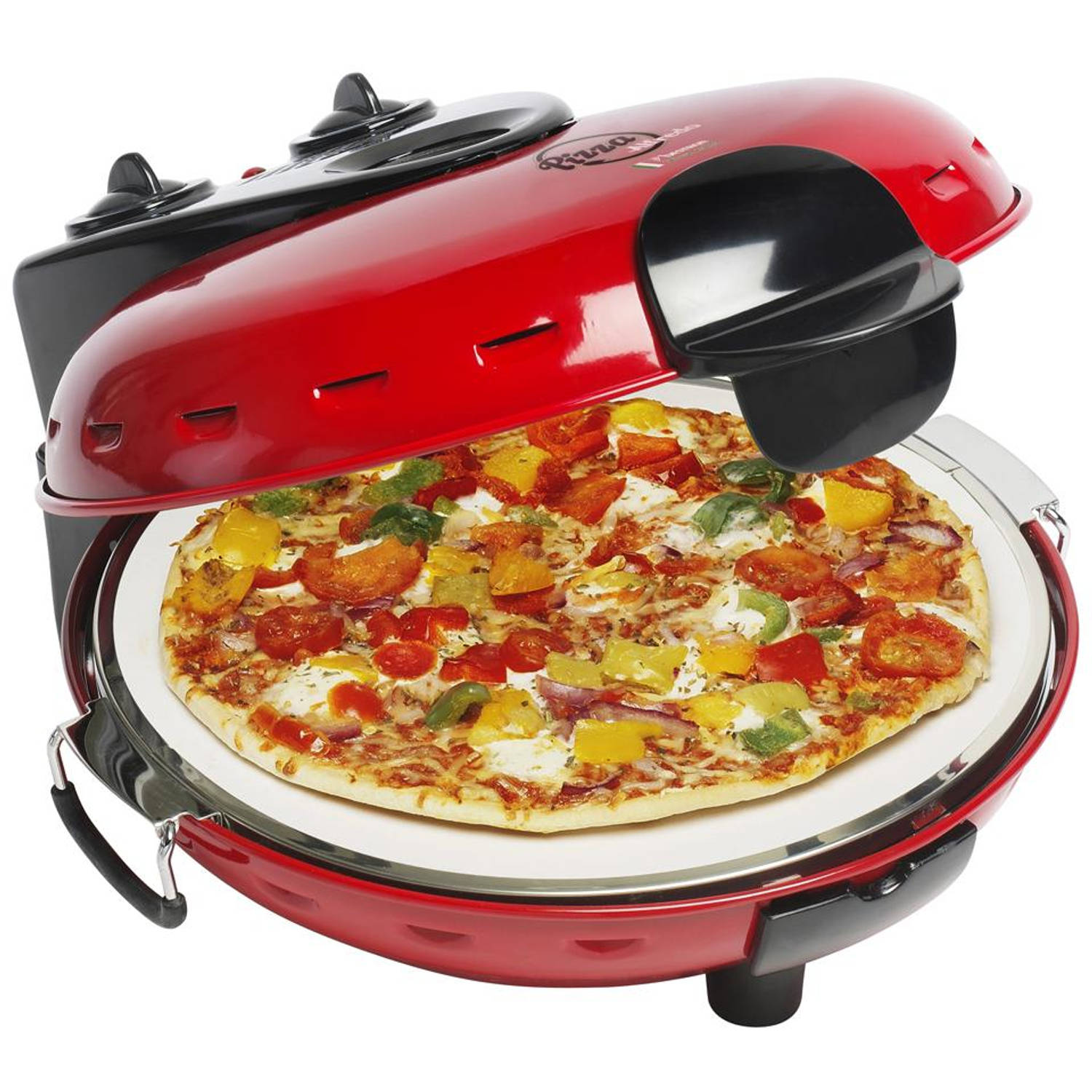 Bestron pizza steenoven DLD9070 - rood