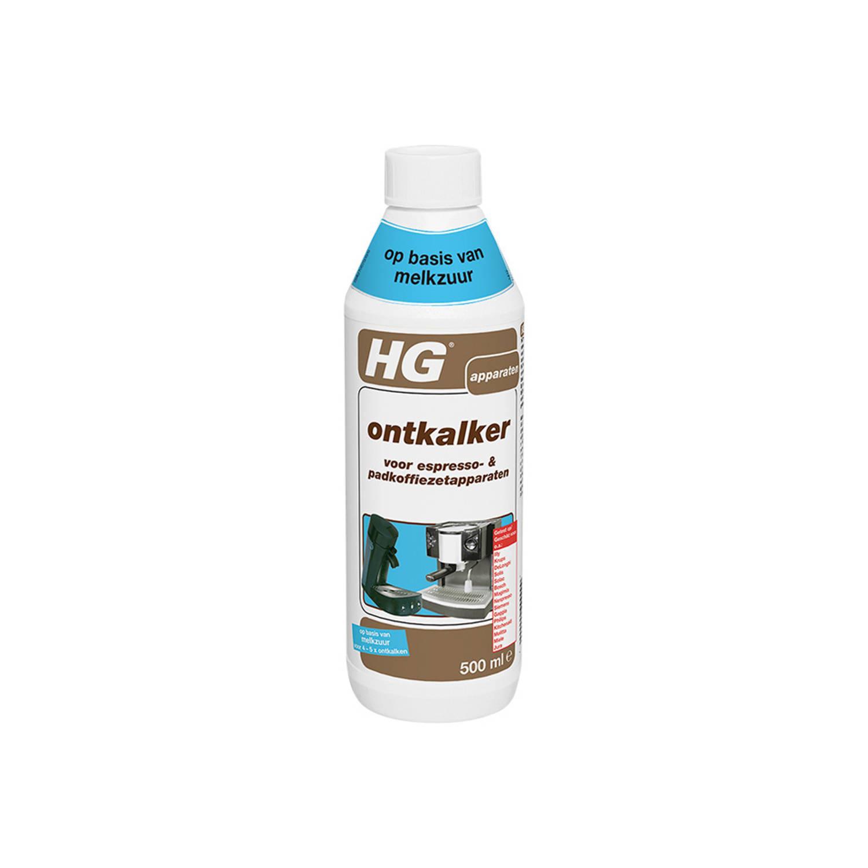 HG ontkalker voor espresso en padkoffiezetapparaten