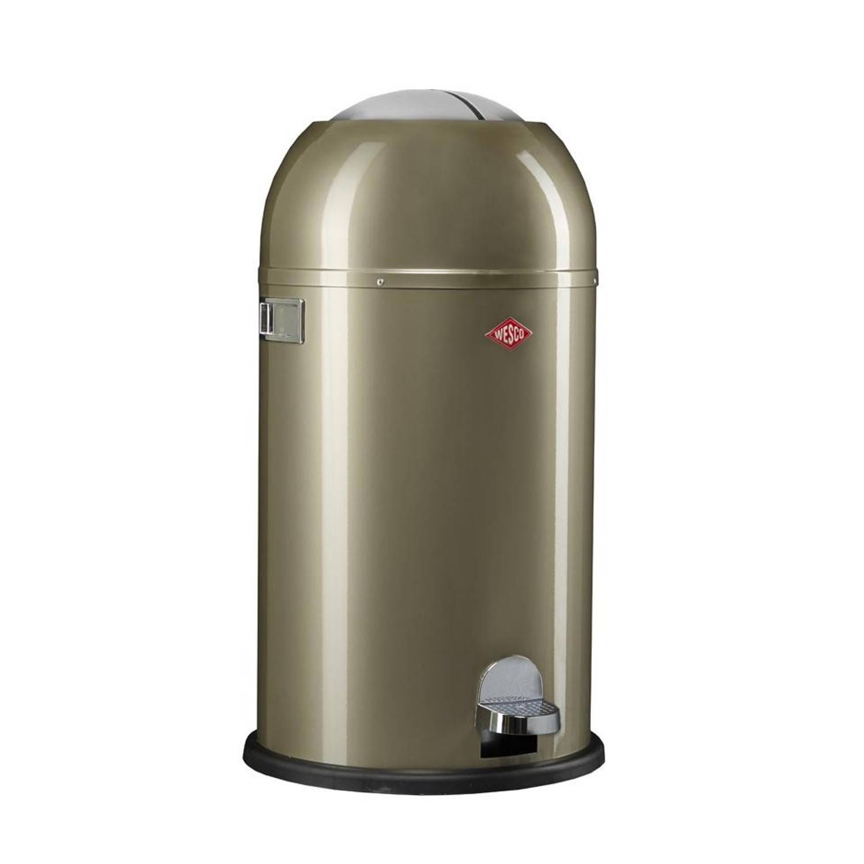 Korting Wesco Kickmaster Prullenbak 33 Liter Zilver