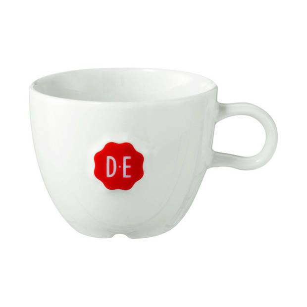 Douwe Egberts cappuccinokop - 19 cl - wit