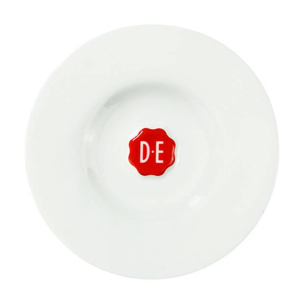 Douwe Egberts espressoschotel - Ø 15 cm - wit