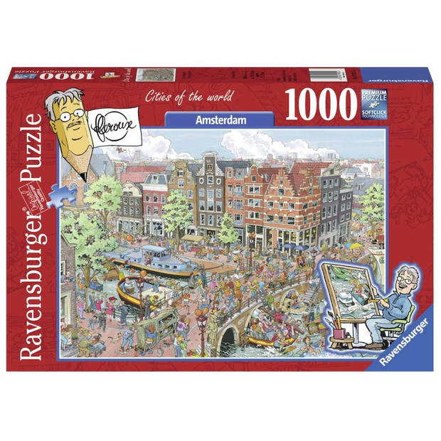 Ravensburger puzzel Fleroux Amsterdam - 1000 stukjes