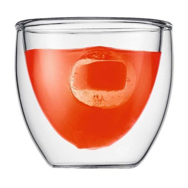 Bodum Pavina dubbelwandig glas - 0,08 liter - 2 stuks
