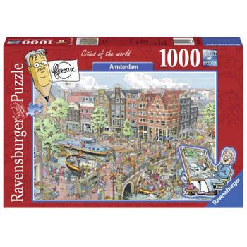 -Ravensburger puzzel Fleroux Amsterdam - 1000 stukjes-aanbieding