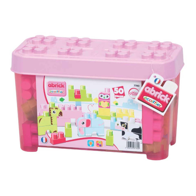 Afbeelding van Abrick maxi roze dierenbox 50-delig