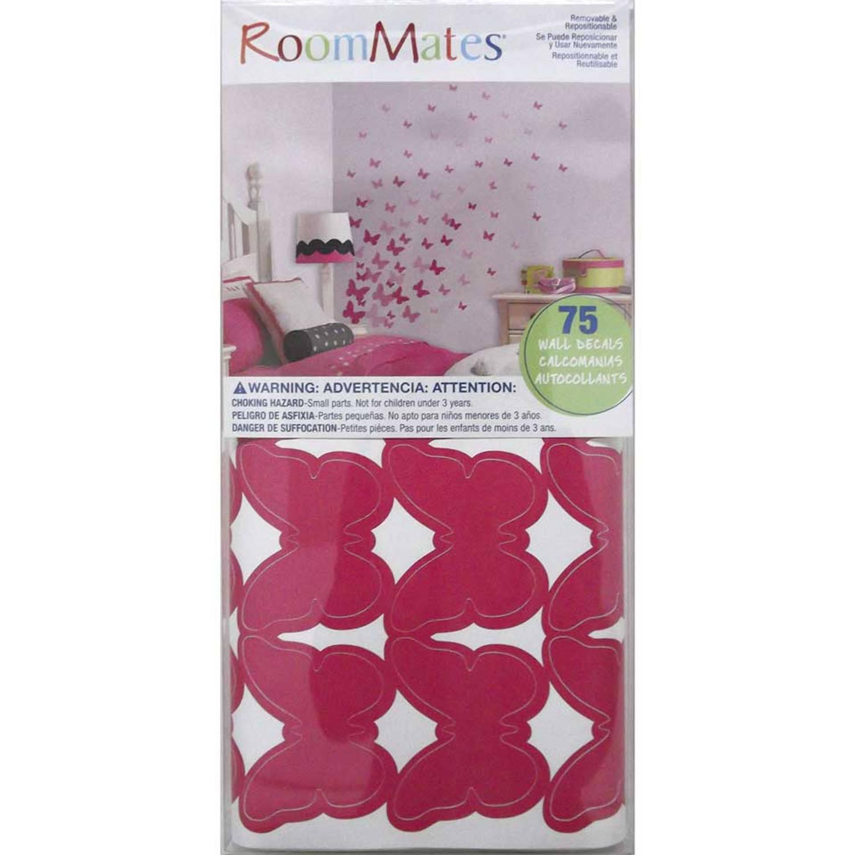 RoomMates Muursticker Roze Vlinders