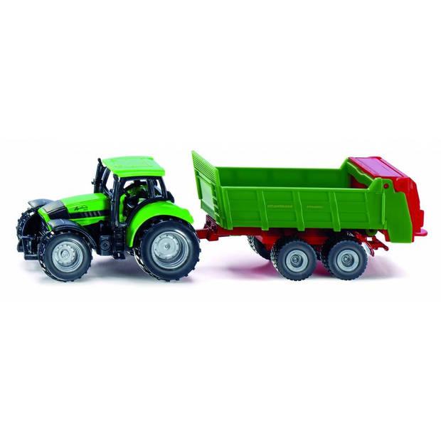 Siku Super tractor met aanhanger