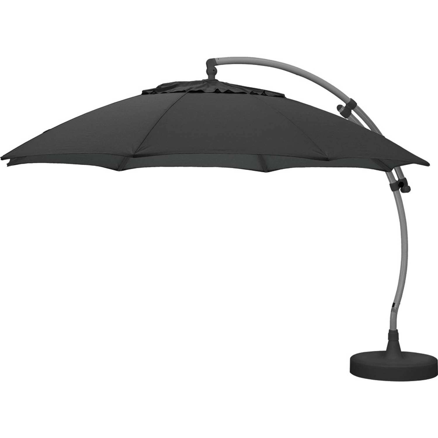 sun garden parasol met lamp 375 cm antraciet blokker. Black Bedroom Furniture Sets. Home Design Ideas