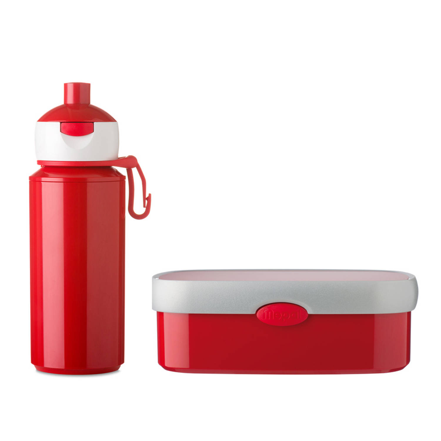 Rosti Mepal Campus pauzeset pop-up beker & lunchbox - rood
