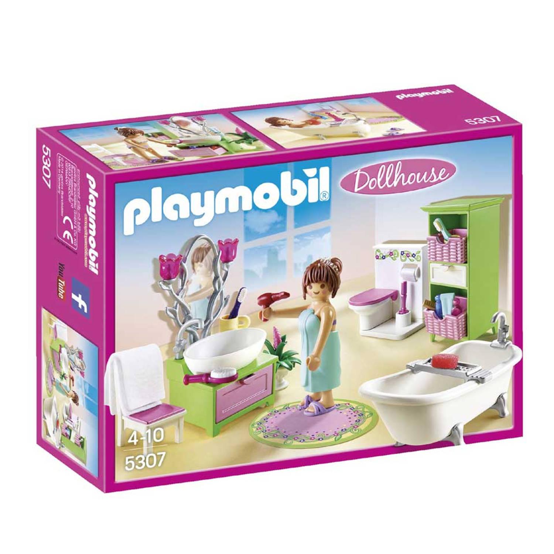 Playmobil Dollhouse badkamer met bad op pootjes 5307 | Blokker
