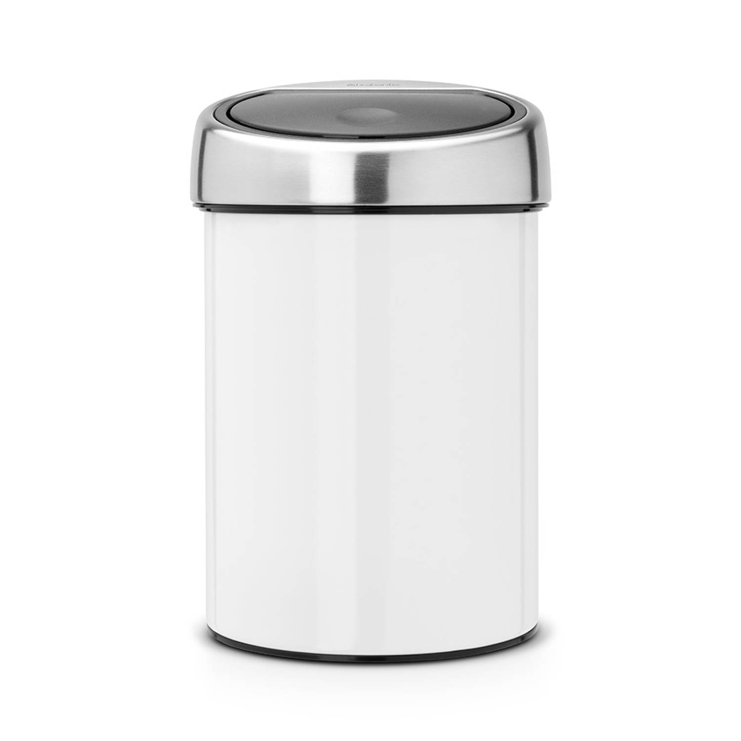 brabantia touch bin 3 l white blokker. Black Bedroom Furniture Sets. Home Design Ideas