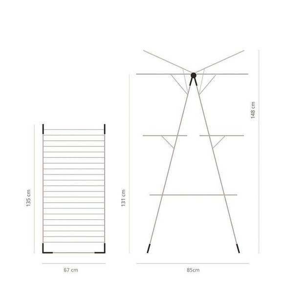 Brabantia droogtoren 23 m - White