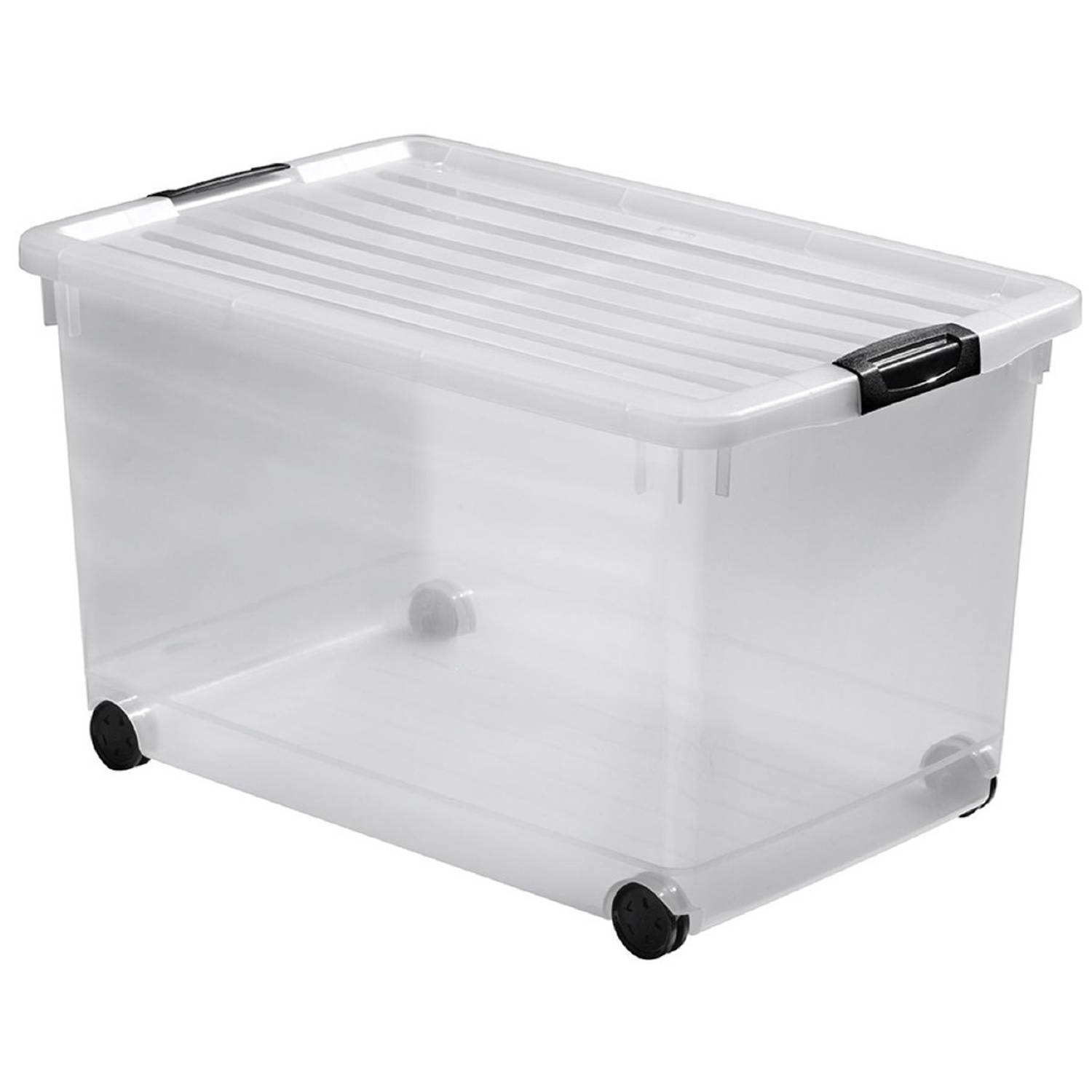 Curver Click'n Fit Multiboxx opbergbox 60 liter transparant