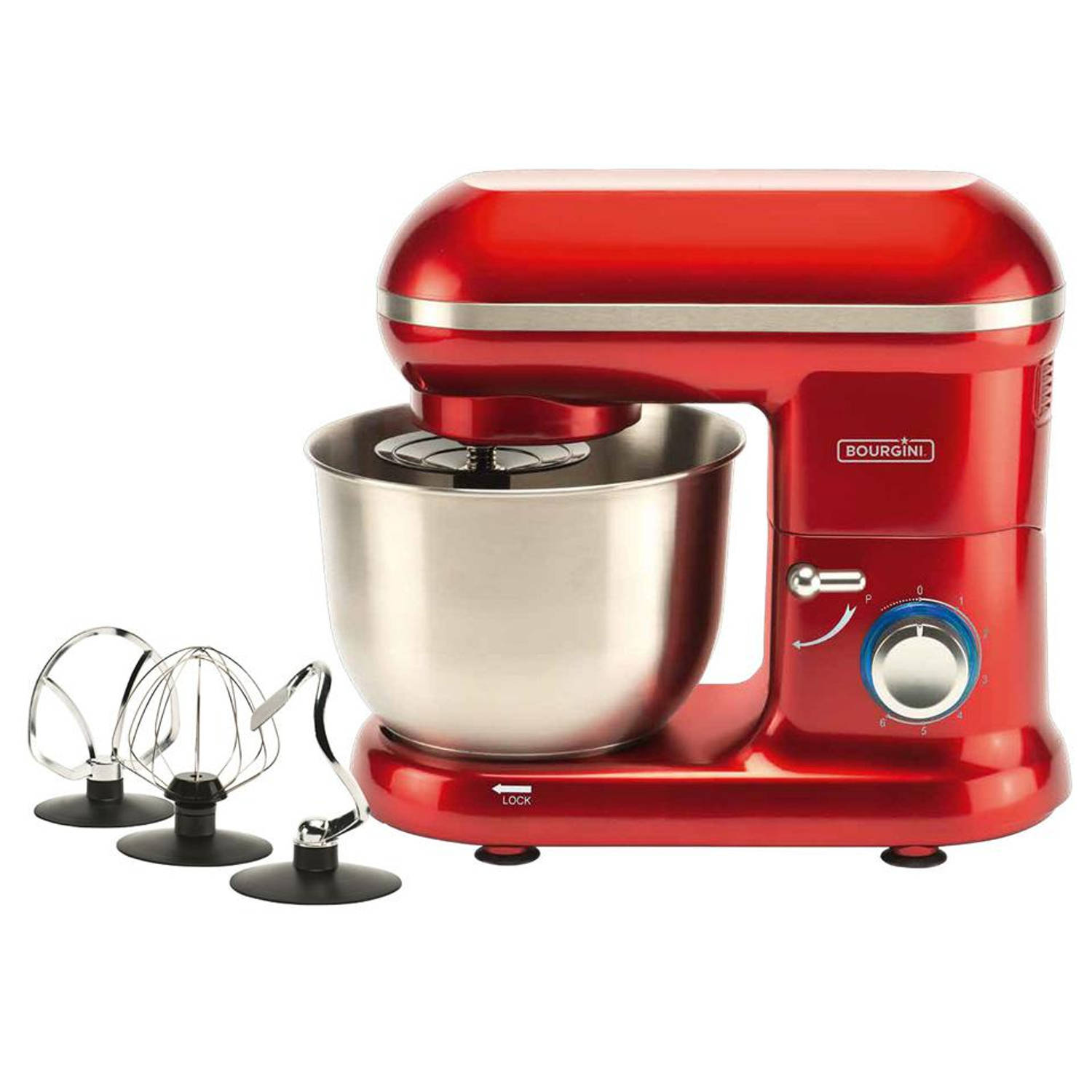 Foto Bourgini keukenmachine Classic Kitchen Chef - rood