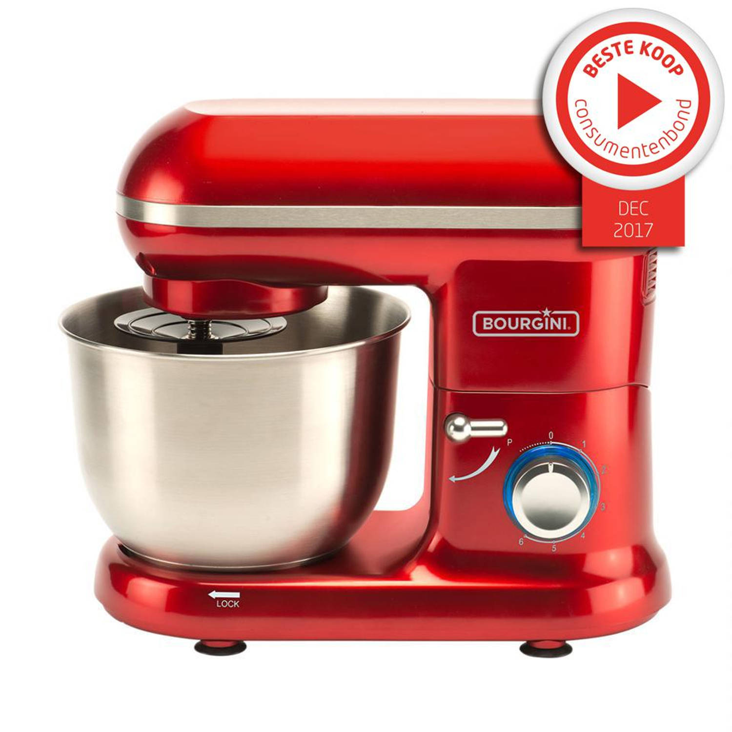 Bourgini keukenmachine Classic Kitchen Chef - rood