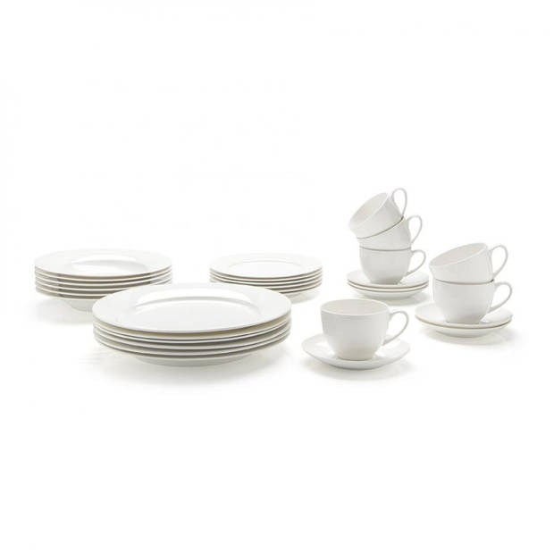 Maxwell and Williams Cashmere koffie & diner serviesset - 30-delig - 6 persoons