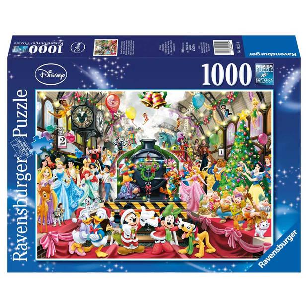 Ravensburger puzzel Disney kerstmis op station - 1000 stukjes