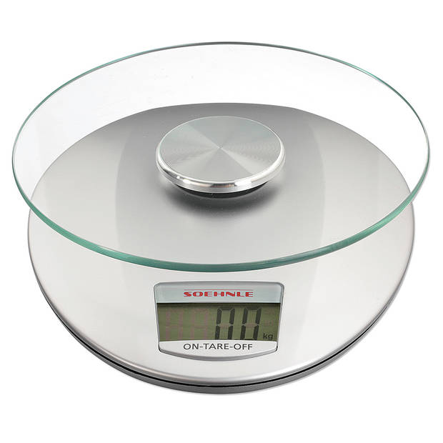 Soehnle digitale keukenweegschaal Roma – tot 5 kg - zilver