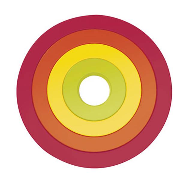 Zak!Designs Circle onderzetters - Ø 17,5 cm - 4 stuks - assortiment