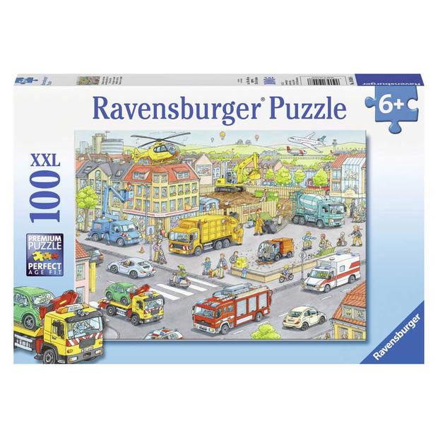 Ravensburger puzzel XXL voertuigen in de stad - 100 stukjes