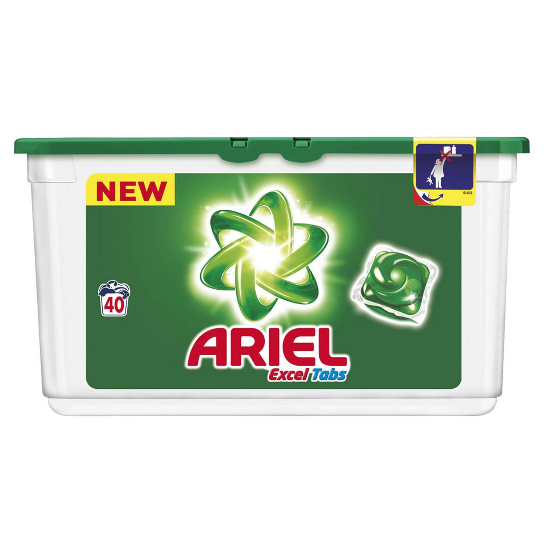 Afbeelding van Ariel Excel tabs Regular wascapsules 40 wasbeurten