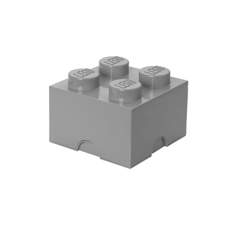 LEGO Opbergbox Design Collection Brick 4 - grijs