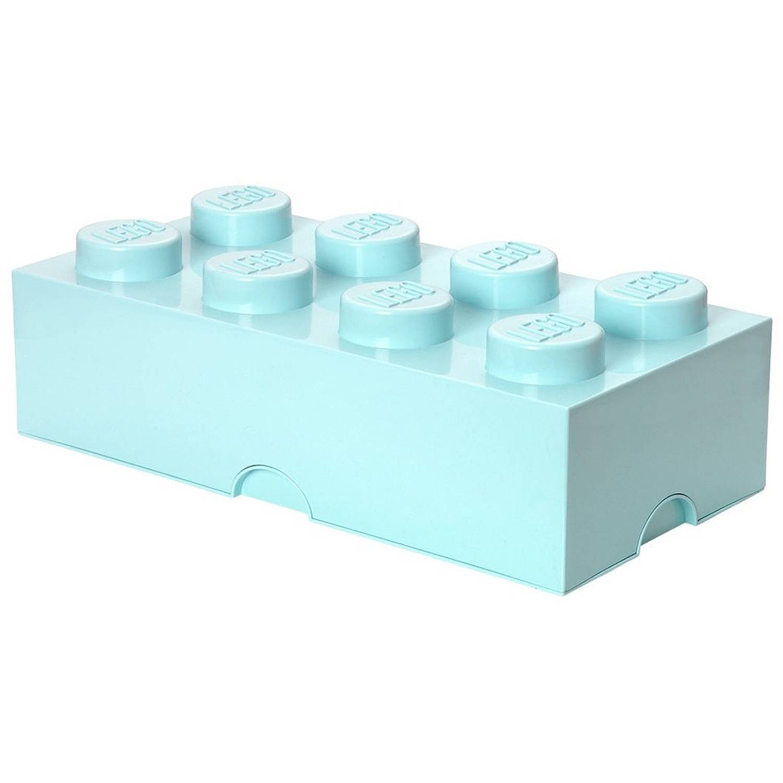 LEGO Design Collection Brick opbergbox 8 - lichtblauw
