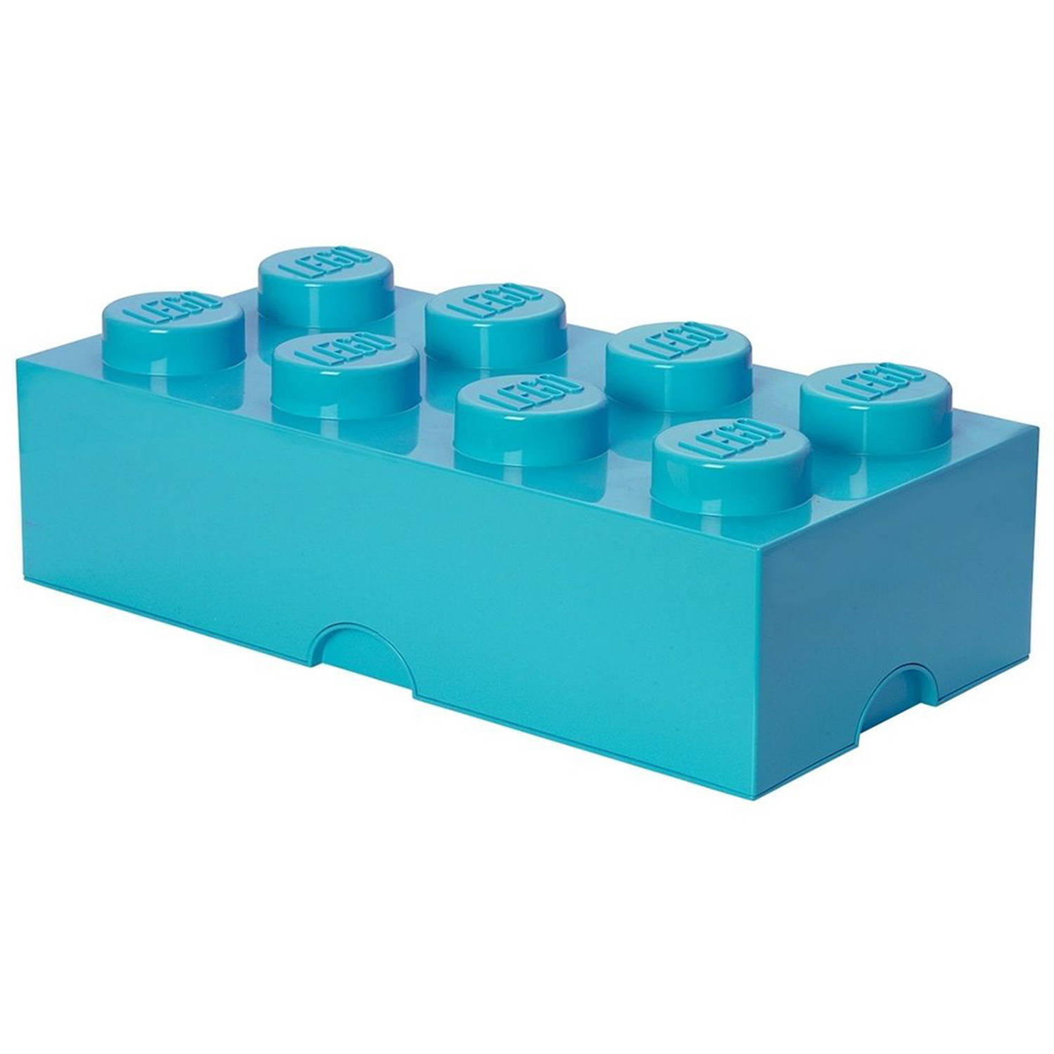 LEGO Design Collection Brick opbergbox 8 - Azur blauw