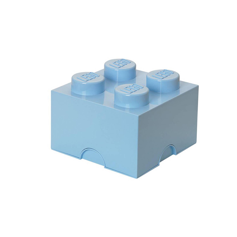 Korting Lego Brick 4 Opbergbox Lichtblauw