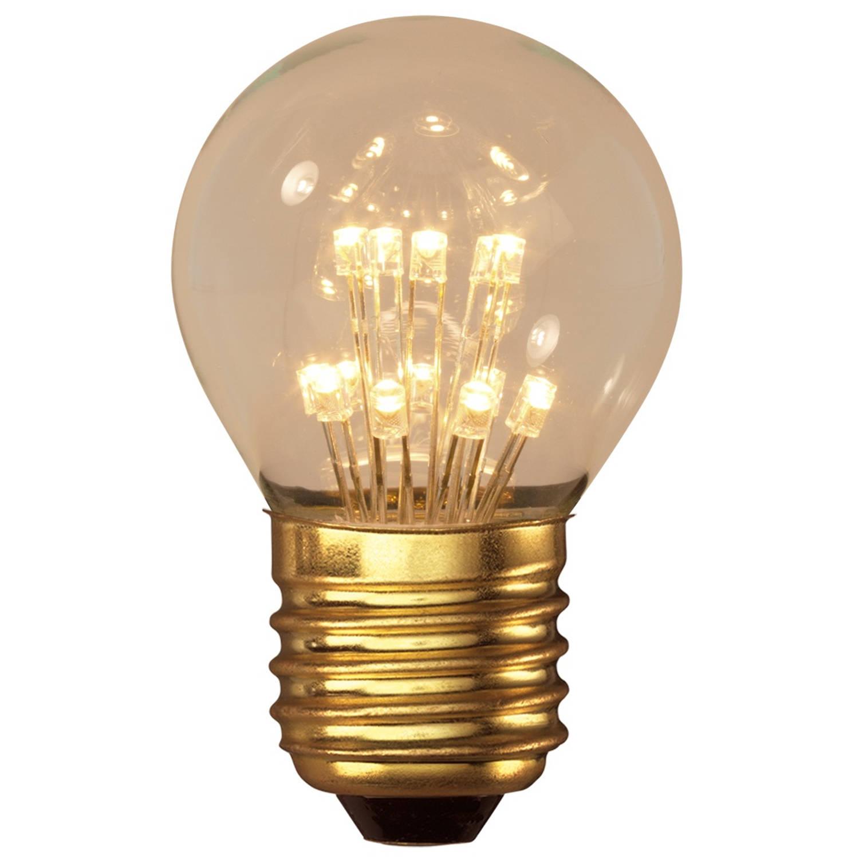 PEARL LED KOGELLAMP 240V 1W E27 P45 14LEDS 2100K
