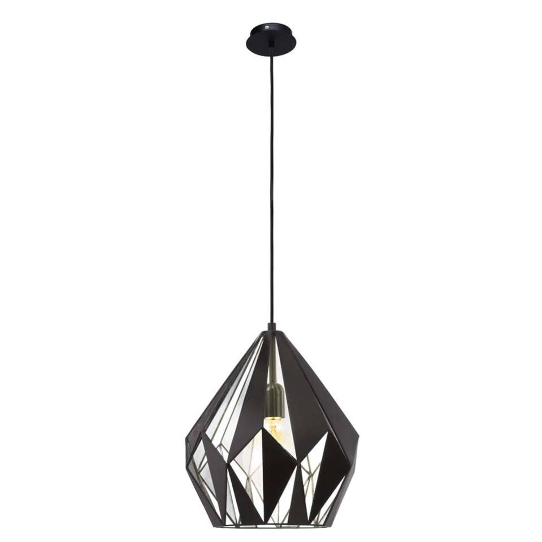 EGLO hanglamp Carlton 1 - zwart zilver