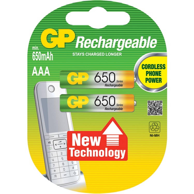 GP nimh oplaadbare 2x AAA micro