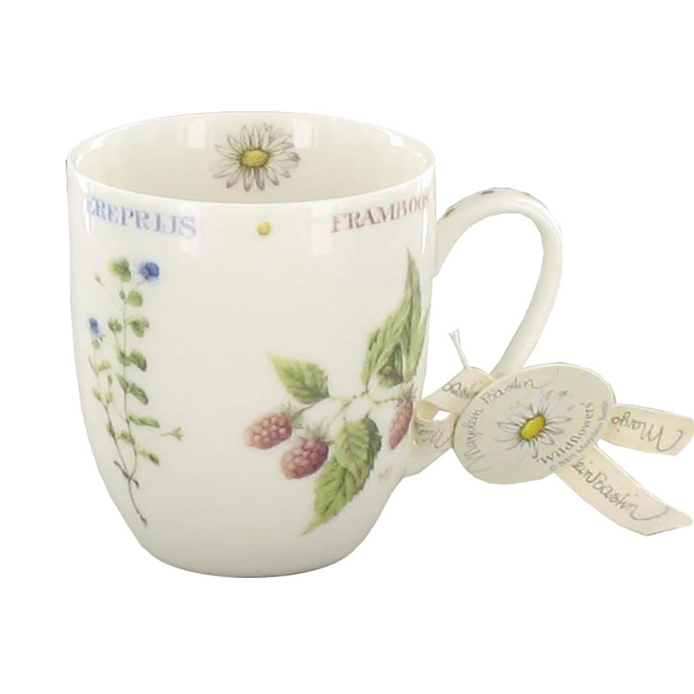 Marjolein Bastin Servies.Marjolein Bastin Wildflowers Mini Mokken Wit O 8 Cm 4 Stuks