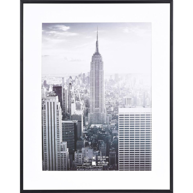 Fotolijst 100 X 50.Henzo Fotolijst Manhattan 40 X 50 Cm Zwart Blokker