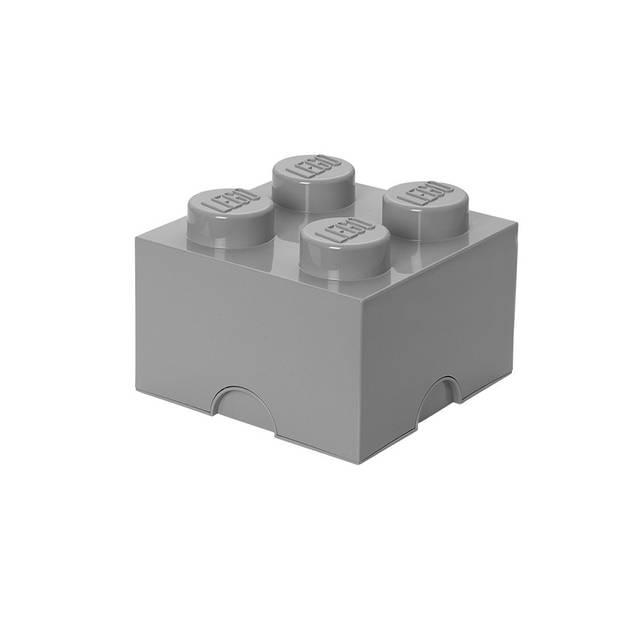 LEGO Brick 4 opbergbox - grijs
