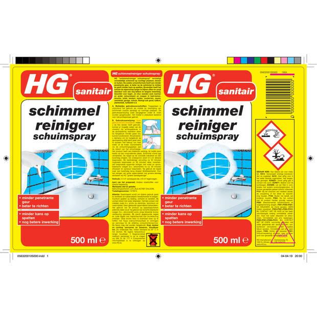 HG Sanitair schimmelreiniger schuimspray