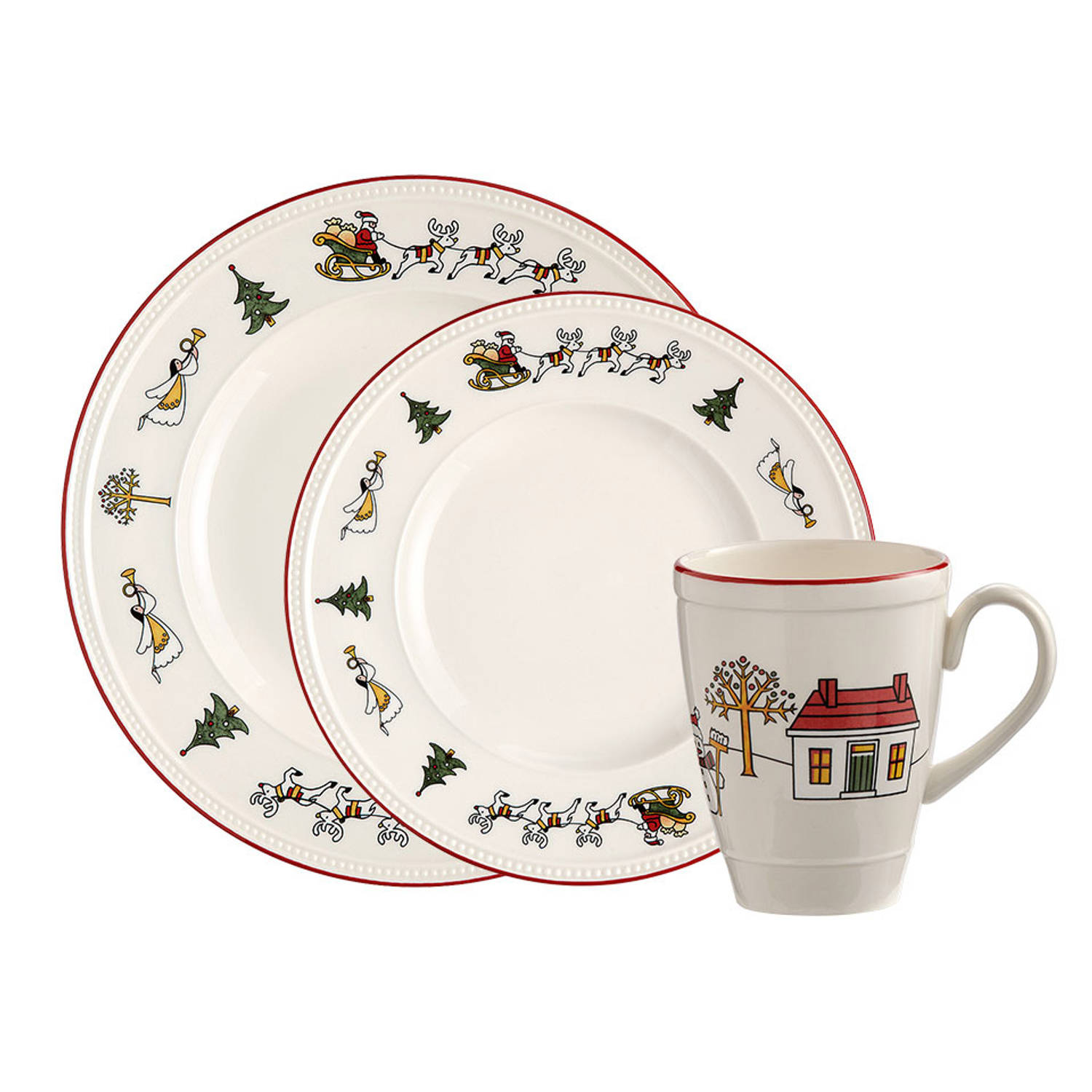 Wedgwood Windsor Christmas serviesset - 12-delig - 4 persoons