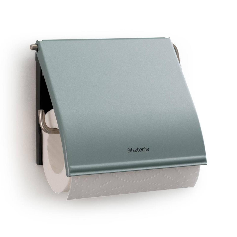 Brabantia Classic toiletrolhouder met klep - metallic mint