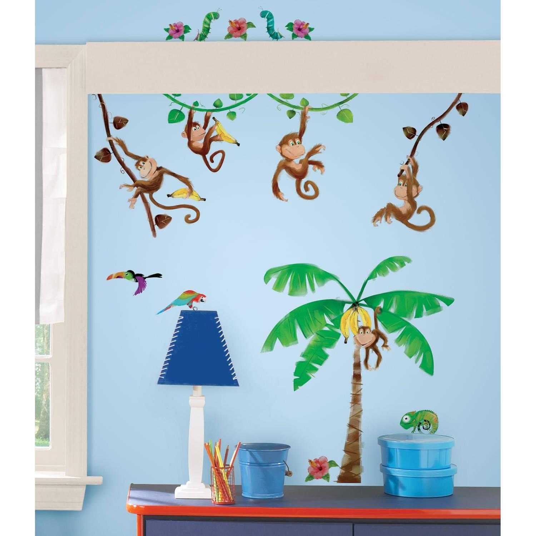 RoomMates muurstickers Apen in de jungle