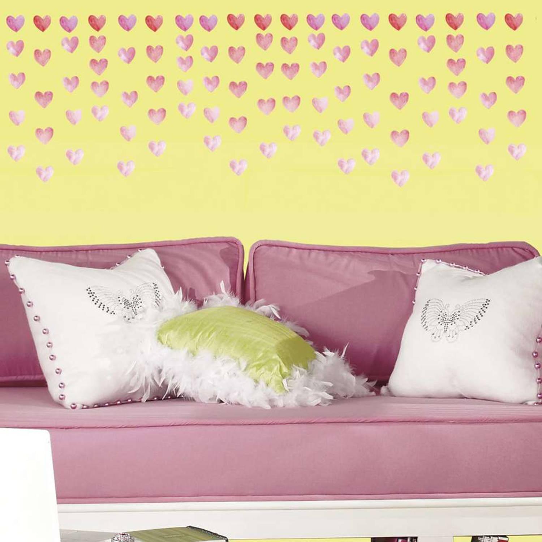RoomMates muursticker - Watercolor Heart - 180 stuks